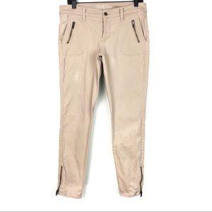 Old Navy Twill Rockstar Skinny Zipper Ankle Pants